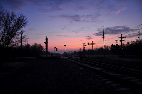 Dawn on the tracks